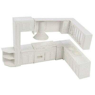 1X(Doll house Miniature toy house cabinet kitchen furniture molds home deco G3V8