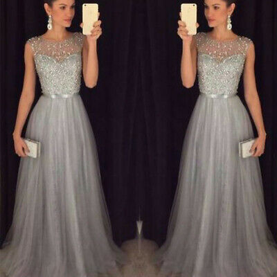 Women Wedding Formal Bridesmaid Evening Party Ball Prom Gown Cocktail Long Dress