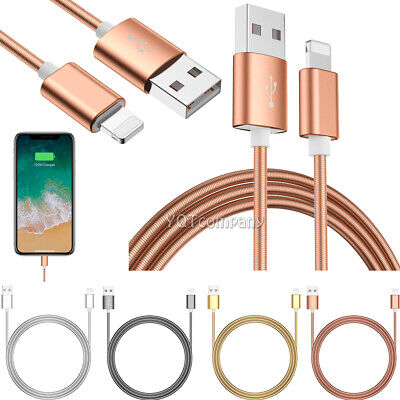 2Pack 3Ft Lightning Cable Heavy Duty Fast Charger Charging Cord for iPhone 8 7 6