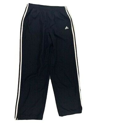 Adidas Mens Windbreaker Track Pants 3 Stripes Size Large With Pockets