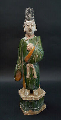 Antique Chinese Sancai-Glazed Tomb Figure, Ming Dynasty, C.1368-1644 Ad, 14.5""