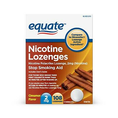Equate Nicotine Lozenges, Cinnamon Flavor, 2 mg, 108 Count