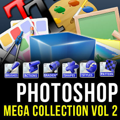 Photoshop (Adobe Cs,Cs2, Cs3,Cs4, Cs5, Cs6, Cc) Mega Graphic Design Pack Vol 2