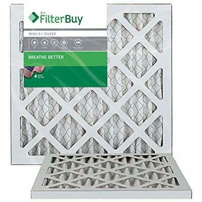 12x12x1 MERV 8 Pleated AC Furnace Air Filter, (Pack Filters), - Silver