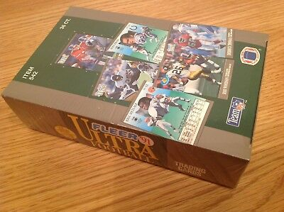 UNOPENED Box 36 Packs Fleer Ultra 1991 USA NFL American Football TRADING CARDS