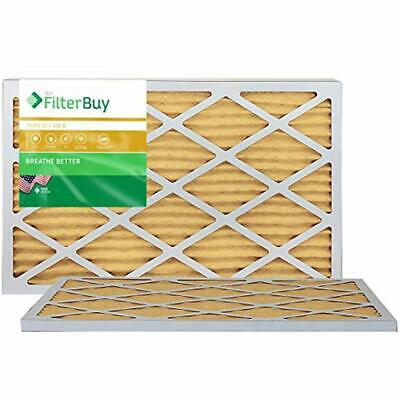 10x20x1 MERV 11 Pleated AC Furnace Air Filter, (Pack Filters), - Gold