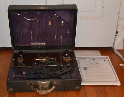 Antique early quack medical device RENULIFE model R violet ray generator