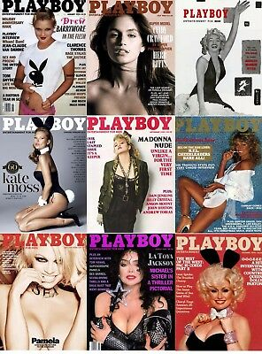 PLAYBOY FAMOUS COVERS cm. 31x42 poster MARILYN MONROE FARRAH FAWCETT MADONNA