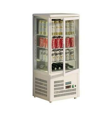 Polar GC870-A Chilled Display Cabinet 68Lt White Countertop Cake Refrigerated