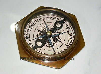 """Antique Vintage 3"""" Brass Nautical The Mary Rose London Compass 1511-1545"""
