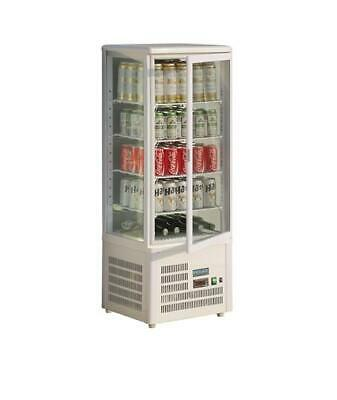 Polar GC871-A Chilled Display Cabinet 98Lt White Countertop Cake Refrigerated