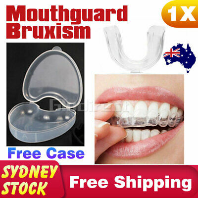 Mouthguard Mouth Bite Guard Bruxism Night Anti Snore Teeth Tooth Grinding Gum AU
