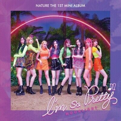Nature-[I'm So Pretty]1st Mini Album Moonlight CD+Poster/On+Book+Card+Tracking