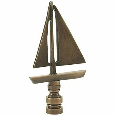 Sailboat - Antique Brass Finish 3.5 Inches High 2 Wide