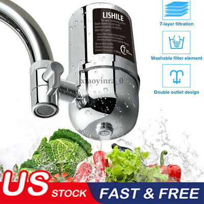 Faucet Water Filter For Kitchen Sink Or Bathroom Mount Filtration Tap Purifier