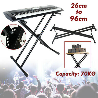 Keyboard Stand Double Braced X Type Adjustable Folding Piano Holder Support 2019