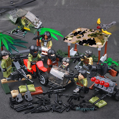 Military Army WW2 Soldier Model Building Blocks Set Weapon Special Force CS SWAT