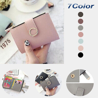 Women Leather Small Wallets Card Bag for Women Clutch Purse Money Clip Wallet