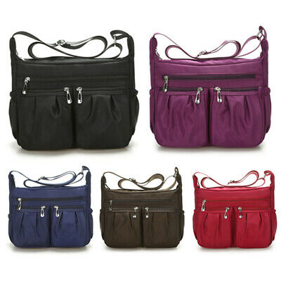 Newest Waterproof Women Nylon Outdoor Shoulder Bag Travel School Messenger Bag