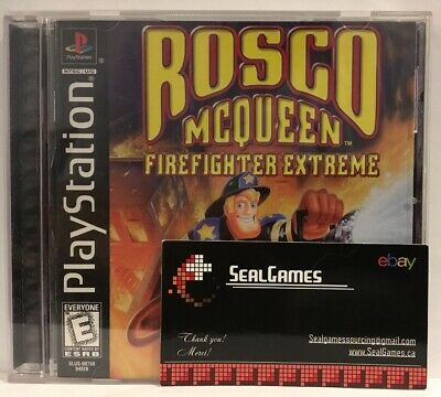 ROSCO MCQUEEN FIREFIGHTER Extreme PS1 Great Condition Complete Fast