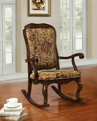 Vintage Antique Rocking Chair French Floral Accent Living Nursery Furniture Seat