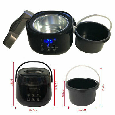 Waxing Heater with Led Display 500 ml pot for Hair removal depilatory paraffin