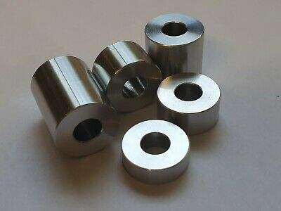 Aluminium Standoff Collar/Spacers, Bonnet Raisers - M5 - M6 - M8 - M10 - M12