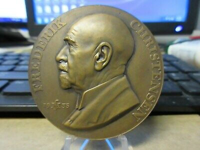 1935 Denmark / Frederick Christensen Numismatic Society 50th ANV. BZ medal 55mm