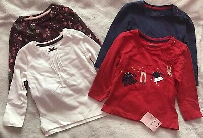 """Lovely Bundle Of Brand New Girls 6-9 Months Longsleeve Tops """"MOTHERCARE"""""""