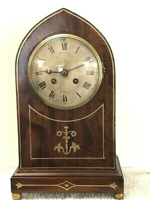 Large Antique Gothic Lancet Clock