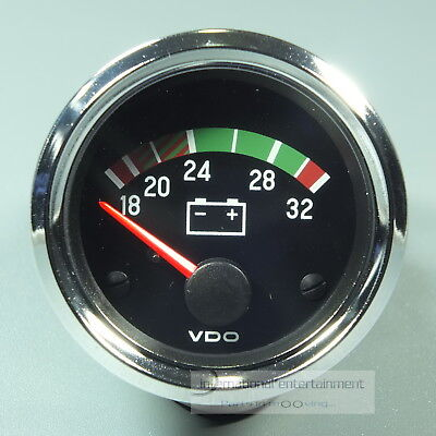 VDO VOLTMETER  INSTRUMENT * CHROME EDITION * GAUGE  24V  52mm Cockpit int.