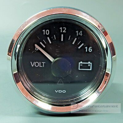 VDO  VOLTMETER INSTRUMENT GAUGE CHROMRING classic  LED 12V 52mm  new Generation