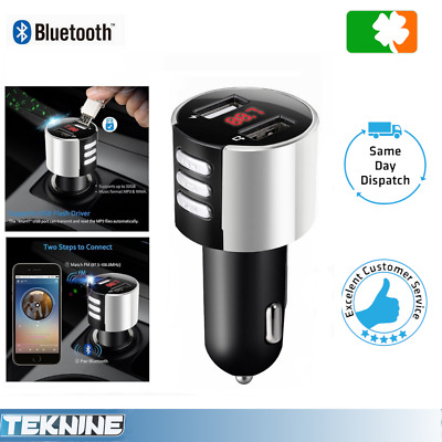 Bluetooth MP3 FM Transmitter Dual USB Charger Handsfree Car Kit iPhone/Android
