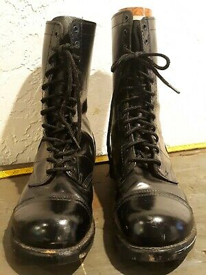 e2b9fea9a3b Corcoran Black Leather Mens Boots size 12.5 EE ~ Jump Boots 1500 Made in USA