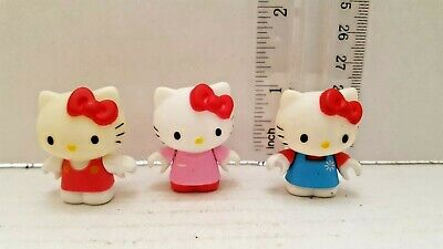 3 PCS Hello Kitty Cute Cat Ball Action Figure Kids Gift Cake Topper Doll Toys US