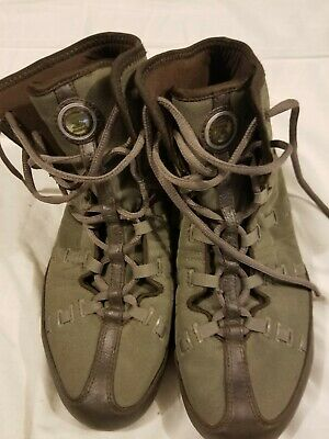 the latest 7508e 77273 Rare Nike Shox Olive Military Green High Top Sneakers Shoes Mens 9.5  Training