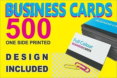 500 FULL Color Two Sided BUSINESS CARDS - FREE Design Service
