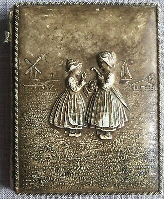 Dutch Late Victorian/Early Edwardian Notebook With Watercolour / Ink Drawings