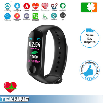 M3 Smart Watch Fitness Activity Step Tracker Callorie Counter Bracelet Wristband