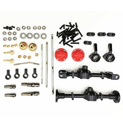 Upgraded Front Rear Axle Shell+Steering Rod Kit for 1/16 WPL B14 B24 C1 C24 C34