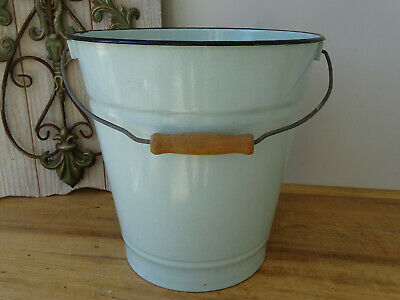 U3082 Enamel Bucket - Shabby Chic - Email - Approx. 10 Liter - Mint Green with