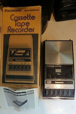 Vintage Panasonic Cassette Player Tape Player Recorder RQ-309AS w/ Box - Tested!