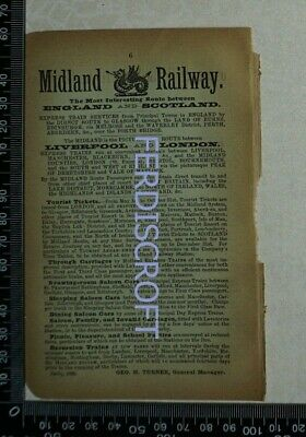1891 Railway Advertisement - London & North Western Railway / Midland Railway
