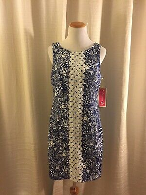 18ee5cf1d958ba LILLY PULITZER FOR Target Blue Upstream Fish Spring Dress ~ Women's ...