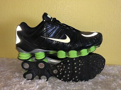 online retailer 9a830 a0655 Men s Nike Shox TLX Athletic Shoes 488313-030 Size 12 Black   Action Green