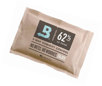 Boveda 62-Percentage RH Individually Over Wrapped 2-Way Humidity Control Pack, 6
