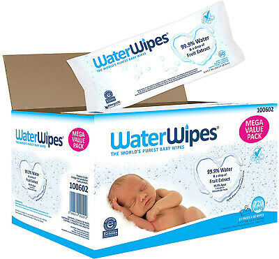 Water Wipes Sensitive Baby Wipes, 720 Count (12 Packs Of 60 Count)