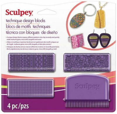 SCULPEY TECHNIQUE DESIGN BLOCKS - Polymer Clay tool Texture