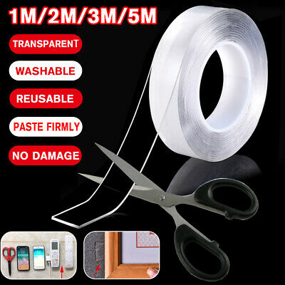 Home Double-sided Grip Tape Traceless Washable Adhesive Tape Nano Invisible Gel