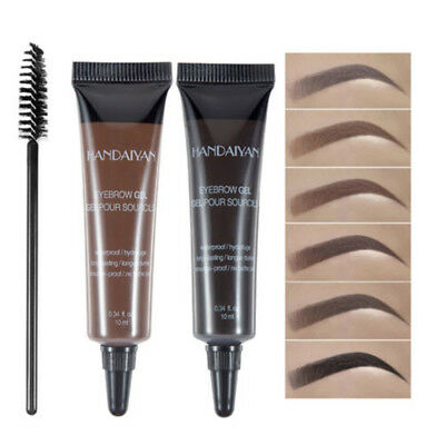 Eye Brow Tattoo Tint Dye Gel Eyebrow Cream + Brush Waterproof Long Lasting CN58